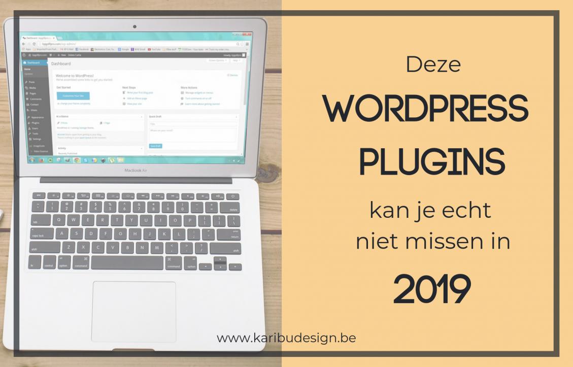 Beste WordPress plugins 2019