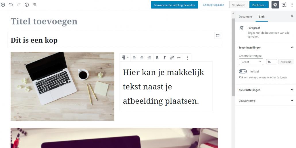 Karibu Design Gutenberg media en tekst