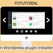 Een WordPress plugin installeren
