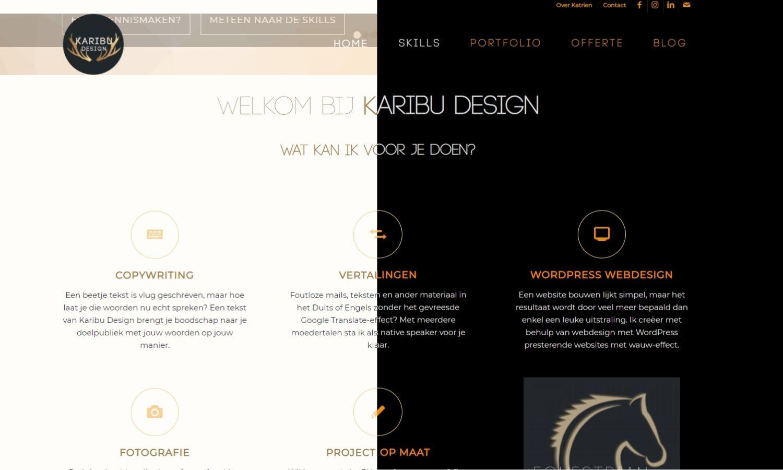 Website donkere modus